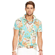 Buy Polo Ralph Lauren Island Luau Print Polo Shirt, Green Online at johnlewis.com
