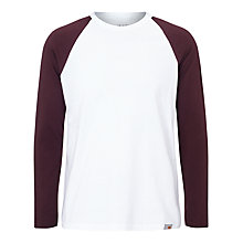 Buy Carhartt Dodgers Long Sleeve T-Shirt, White Damson Online at johnlewis.com