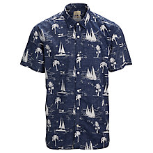 Buy Selected Homme Sail Short Sleeve Shirt, Navy Blazer Online at johnlewis.com