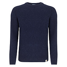 Buy Carhartt Ribbed Crew Neck Jumper, Dark Navy Heather Online at johnlewis.com