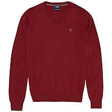 Buy Hackett London V-Neck Silk Blend V-Neck Jumper Online at johnlewis.com