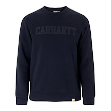 Buy Carhartt Stars Logo Sweatshirt, Black Online at johnlewis.com