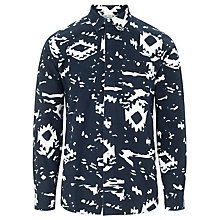 Buy Carhartt Shard Printed Long Sleeve Shirt, Navy/White Online at johnlewis.com