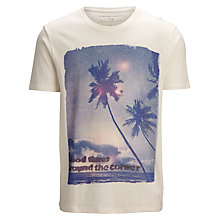 Buy Selected Homme Good Times Printed T-Shirt, Marshmallow Online at johnlewis.com