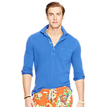 Buy Polo Ralph Lauren Long Sleeve Polo Shirt, Provincetown Blue Online at johnlewis.com
