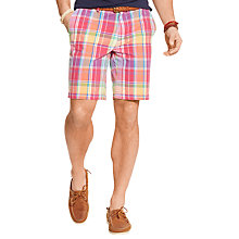 Buy Polo Ralph Lauren Classic Fit Newport Chino Shorts, Ruby/Yellow Online at johnlewis.com