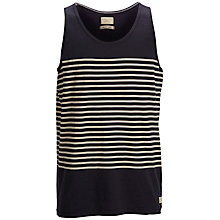 Buy Selected Homme Candy Striped Vest Top, Dark Navy Online at johnlewis.com