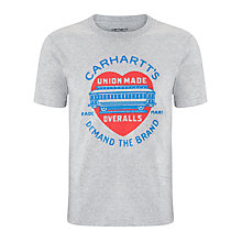 Buy Carhartt Demand Printed Crew Neck T-Shirt, Grey Heather Online at johnlewis.com