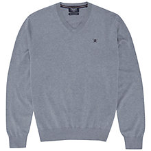 Buy Hackett London Silk Blend V-Neck Jumper Online at johnlewis.com