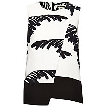 Buy Whistles Bamboo Overlay Top, Black / White Online at johnlewis.com