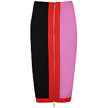 Buy Ted Baker Zip Detail Pencil Skirt, Black Online at johnlewis.com