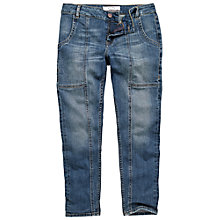 Buy Fat Face Carpenter Ankle Grazer Trousers, Denim Online at johnlewis.com