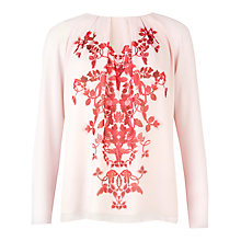 Buy Ted Baker Tebas China Red Top, Pale Pink Online at johnlewis.com