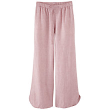 Buy Poetry Wide Leg Linen Trousers, Soft Coral Online at johnlewis.com
