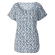 Buy Fat Face Wicklow Bluebird Popover Top, White/Multi Online at johnlewis.com