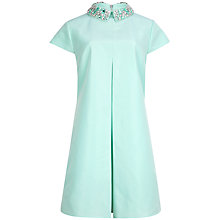 Buy Ted Baker Embellished Collar Dress, Light Green Online at johnlewis.com