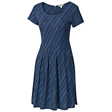 Buy Fat Face Kew Diamond Dash Dress, Dark Chambray Online at johnlewis.com