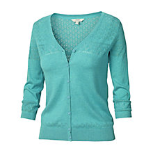 Buy Fat Face Annie Cotton Cardigan, Ocean Tide Online at johnlewis.com