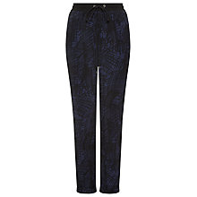 Buy Whistles Helena Scribble Print Trousers, Black Online at johnlewis.com