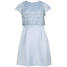 Buy Ted Baker Dabria Floral Bodice Dress, Powder Blue Online at johnlewis.com