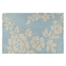 Buy John Lewis Willow Flower Rug, Duck Egg Online at johnlewis.com
