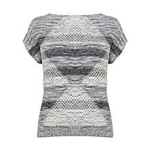 Buy Karen Millen Aztec Knit Jumper, Monochrome Online at johnlewis.com