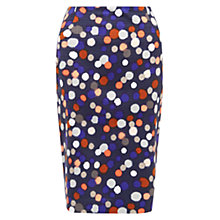 Buy Hobbs Orla Spot Pencil Skirt, Navy Multi Online at johnlewis.com