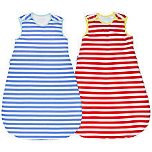 Buy Grobag Striped Baby Sleep Bag, 2.5 Tog, Pack of 2, Red/Blue Online at johnlewis.com