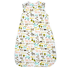 Buy John Lewis Baby Farmyard Print Sleep Bag, 2.5 Tog, White/Multi Online at johnlewis.com