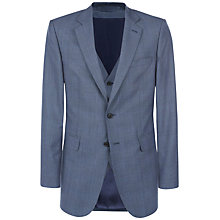Buy Jaeger Prince of Wales Check Classic Suit Jacket, Chambray Online at johnlewis.com
