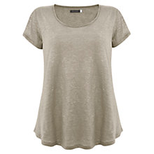 Buy Mint Velvet Shimmer T-Shirt Online at johnlewis.com