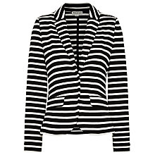Buy Whistles Double Face Striped Jacket, Black / White Online at johnlewis.com