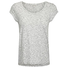 Buy Whistles Faye Marl Seam Back T-Shirt Online at johnlewis.com