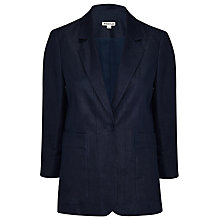 Buy Whistles Lucie Linen Jacket, Navy Online at johnlewis.com
