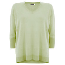 Buy Mint Velvet Boxy Linen Jumper, Citrus Online at johnlewis.com