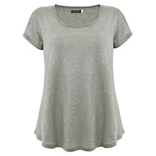 Buy Mint Velvet Linen Shimmer T-Shirt Online at johnlewis.com