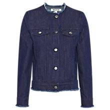Buy Whistles Frayed Edge Denim Jacket, Navy Online at johnlewis.com
