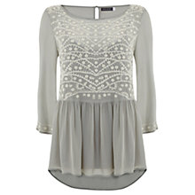 Buy Mint Velvet Embroidered Top, Multi Online at johnlewis.com