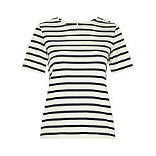 Buy Whistles Zip Back Stripe T-Shirt, Multi Online at johnlewis.com