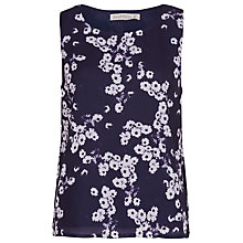 Buy Sugarhill Boutique Daisy Print Shell Top, Navy / Cream Online at johnlewis.com