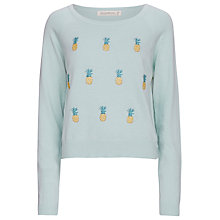 Buy Sugarhill Boutique Pineapple Embroidered Jumper, Blue Online at johnlewis.com