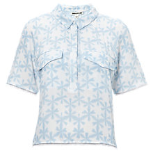 Buy Whistles Sekka Floral Crop Shirt, Mineral Water Online at johnlewis.com