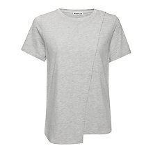 Buy Whistles Double Layer T-Shirt, Grey Marl Online at johnlewis.com