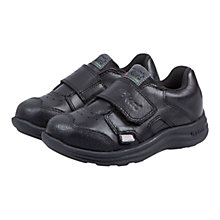 Buy Kickers Rip-Tape Leather Trainers, Black Online at johnlewis.com