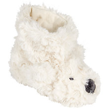 Buy John Lewis Baby's Bear Bootie, Cream Online at johnlewis.com