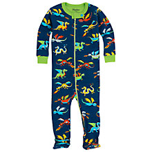 Buy Hatley Baby Dragon Sleepsuit, Blue Online at johnlewis.com