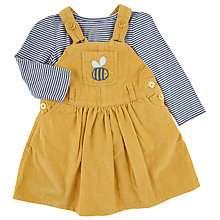 Buy John Lewis Baby's Cord Pinafore and Stripe T-Shirt, Yellow Online at johnlewis.com
