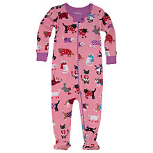 Buy Hatley Baby Cats Sleepsuit, Pink Online at johnlewis.com