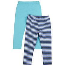 Buy John Lewis Baby's Leggings, Pack of 2, Blue/Multi Online at johnlewis.com