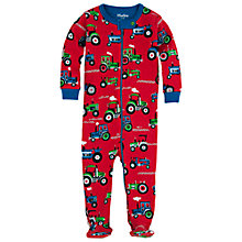 Buy Hatley Baby Tractor Sleepsuit, Red Online at johnlewis.com